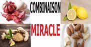 Combinaison miracle :  Ail + Gingembre + petite cola, oignon, citron biologique